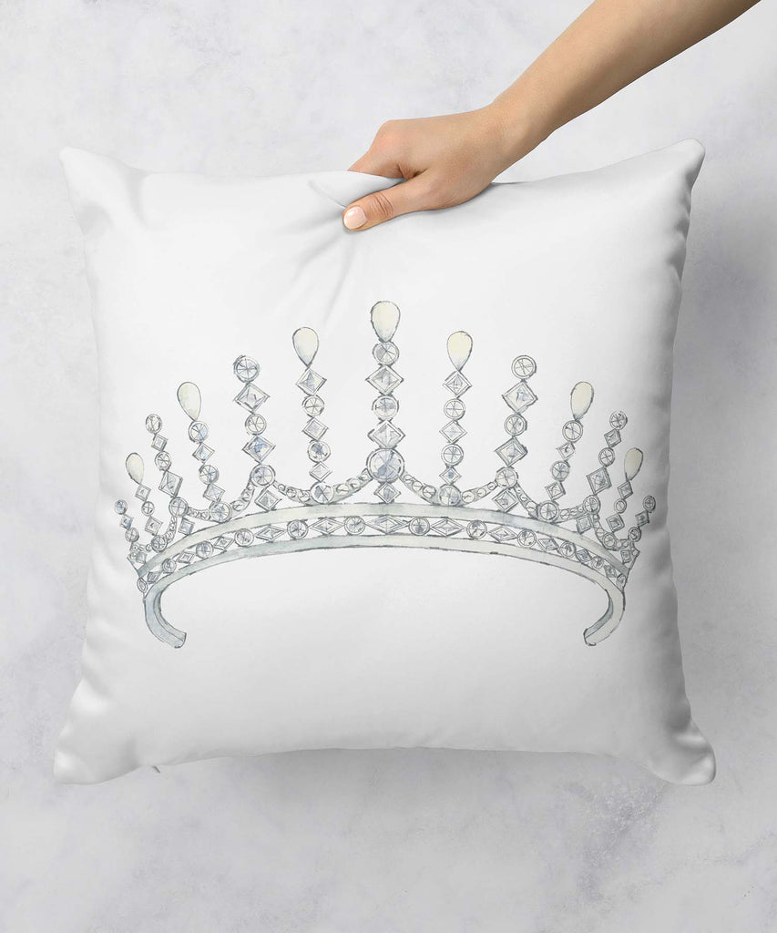 Diamond & Pearl Tiara Pillow