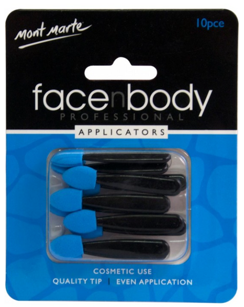 Face n Body Cosmetic Applicators 10pce - sillywillyscraft