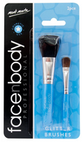 Face n Body Glitter Brushes 2pce - sillywillyscraft