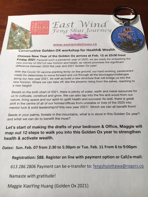 Health & Wealth Workshop 2021 Golden Ox)