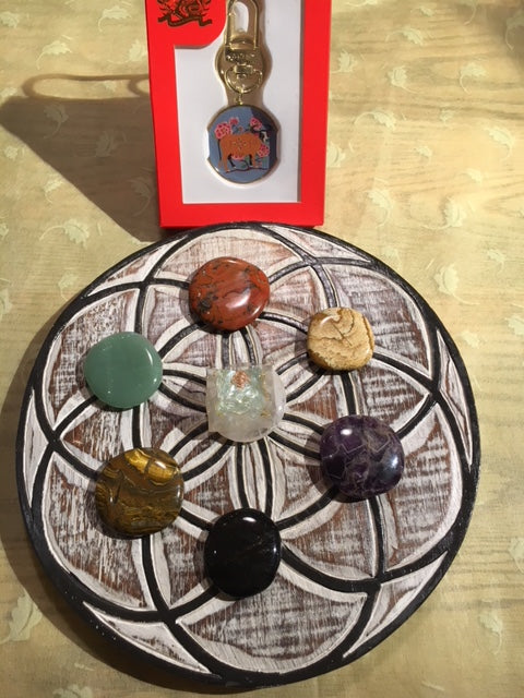 Crystal Grid: flower of life  for wealth and happiness