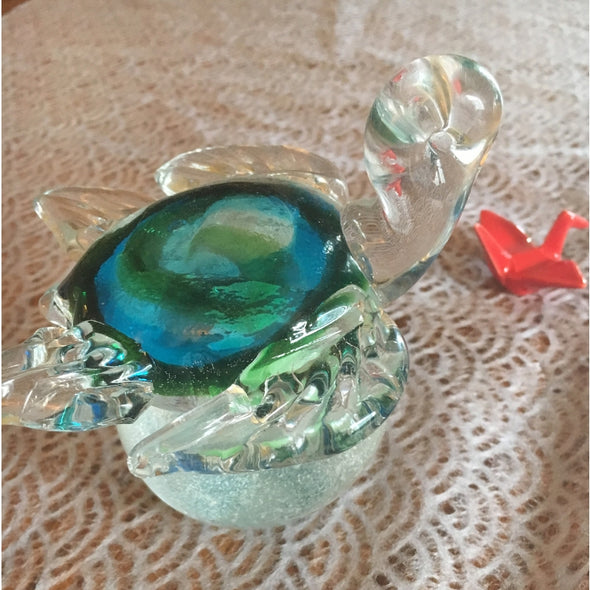 Happy Journey Glass Turtle