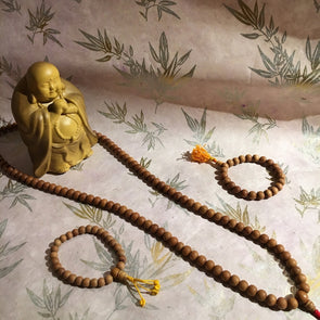 Sandalwood 108 Bead Long Mala/Hand Mala