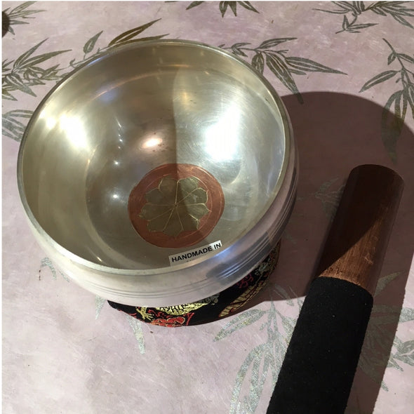 Silver Tibetan Singing bowl/ small/medium
