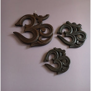 Zen Collection OM Wood Wall Plaque