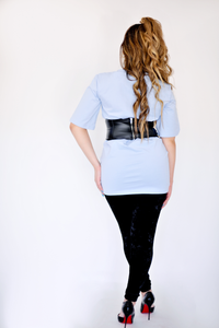 For The Boys Blue Corset T Shirt Dress