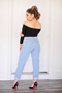 Senna Distressed Mom Jeans