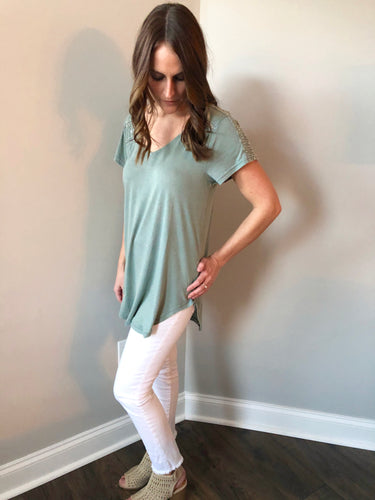 SAGE SHORT SLEEVE TUNIC