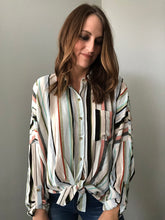 MULTI COLOR STRIPE BLOUSE