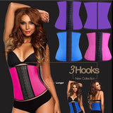 3 Sizes Rose Red/Blue/Black Purple Hook Closure Underbust Neoprene Sport Waist Trainer