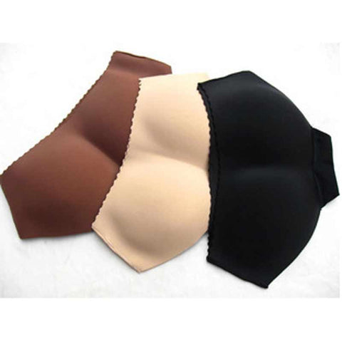 4 Sizes Skin/Black Padded Seamless Polyester Butt Shaper