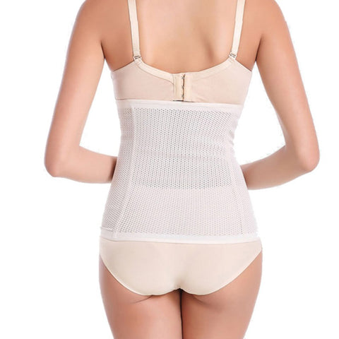 6 Sizes Beige/Black Mesh Underbust Rubber Waist Cincher