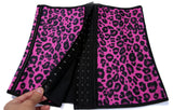 9 Sizes Black/Blue/Pink/Purple Plain/Leopard Print Hook Closure Underbust Latex Cincher