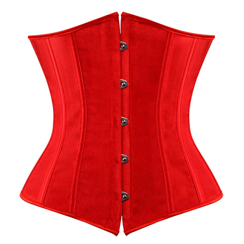9 Sizes Black/Blue/Beige/Pink/Purple/Red/White Button Closure Polyester Underbust Corset