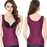 3 Sizes Black/Purple/Apricot Polyester Body Shaping Tank Top