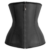 4 Sizes Black Zipper Closure Underbust Polyester Training Corset