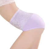 3 Sizes Black/Beige/Purple Lace Decorated Underbust Polyester Girdle Panties
