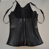9 Sizes Black Hook and Zipper Closure Vest Underbust Latex Body Shaper