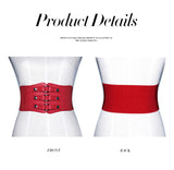 3 Sizes White/Black/Red/Blue/Coffee Buckle Closure Leather Girdle