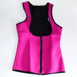 5 Sizes Black/Blue/Purple/Red Vest Zipper Closure Underbust Cotton Plus Size Waist Trainer
