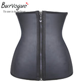 10 Sizes Beige/Black Hook and Zipper Closure Natural Rubber Underbust Corset