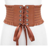 Black/Coffee/White Lace Closure Underbust Tummy Tuck Belt