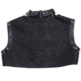 5 Sizes Black Lace Black Closure Leather Corset with Vest