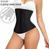 10 Sizes Black/Khaki/White Hook Closure Nylon Waist Shaper