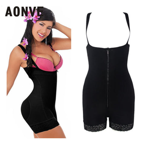 9 Sizes Black/Skin Color Hook and Zipper Closure Underbust with Strap Nylon Full Body Waist Trainer