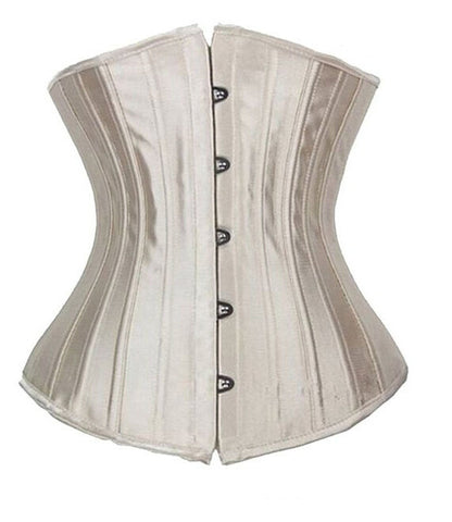 10 Sizes Black/Champagne/White Button Closure Underbust Polyester Steel Boned