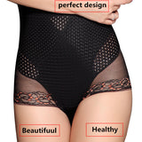 4 Sizes Black/Beige Lace Decorated Underbust Spandex Girdle Panties