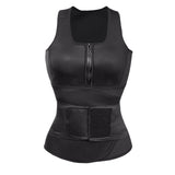 8 Sizes Black Zipper and Hook Closure Vest Underbust Lycra Cincher Wrap