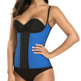 10 Sizes Skin/Black/Blue/Pink/Purple Hook Closure Underbust with Strap Polyester Women Waist Trainer