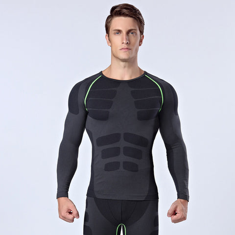 3 Sizes Black with Red/Black with Green/Blue Long Sleeves Spandex Compression Bodysuit