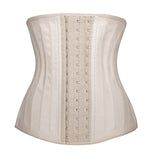 10 Sizes Beige/Black Hook Closure Underbust Latex Waist Trainers
