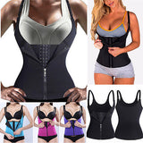 5 Sizes Black/Blue/Purple/Rose Red Hook and Zipper Closure Underbust Polyester Body Shaper Vest