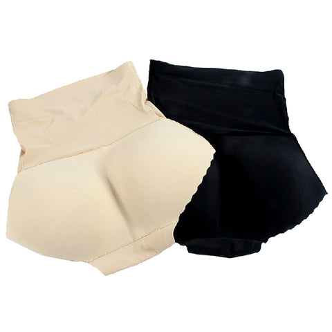 4 Sizes Black/Khaki High-rise Padded Spandex Butt Shapers