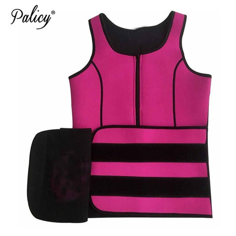 6 Sizes Black/Pink Zipper and Velcro Closure Neoprene Body Shaper Vest