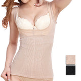 5 Sizes Black/Apricot Mesh Vest Underbust Body Shaping Tank Top
