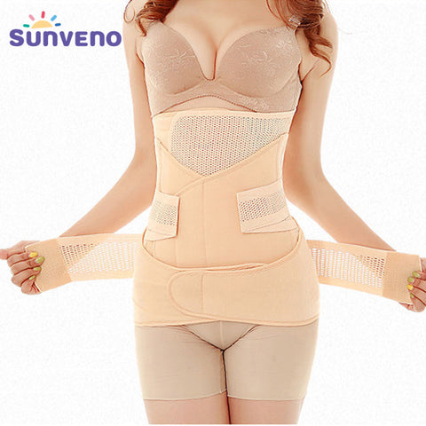 5 Sizes Natural Color Mesh Velcro Closure Underbust Polyester Postpartum Waist Trainer