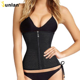 4 Sizes Black Mesh Hook and Zipper Closure Underbust Polyester Waist Trainer