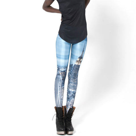 Concrete Jungle Printed Spandex Body Shapping Leggings