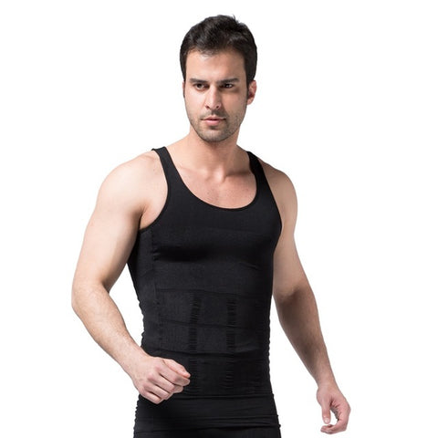 4 Sizes Black/White Vest Nylon Men's Body Shaping Tank Tops