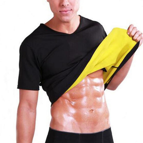 8 Sizes Black Shirt Nylon Men's Thermal Waist Trainer