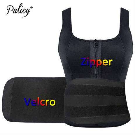6 Sizes Black/Pink Zipper and Velcro Bottom Closure Vest Type Neoprene Workout Waist Trainer