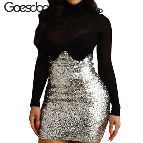 3 Sizes Silver Sequin Underbust Polyester Corset Skirt