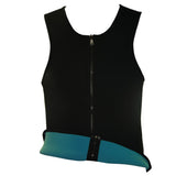 6 Sizes Black and Green Reversible Zipper Closure with Sleeve Overbust Neoprene Men's Waist Trainer Vestt