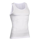 3 Sizes Black/Blue/White Vest Nylon Men's Body Shaping Tank Top