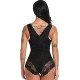4 Sizes Black/Beige/Gray Floral Lace Underbust with Strap Nylon Full Body Waist Trainer