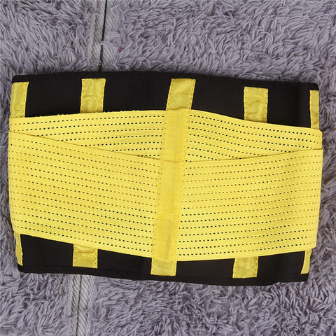 3 Sizes Yellow/Pink/Blue/Black Velcro Closure Underbust Cotton Gym Waist Trainer